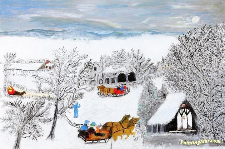 Going To Church Artwork By Anna Mary Robertson Grandma