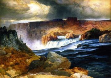 Shoshone Falls, Snake River, Idaho Artwork by Thomas Moran