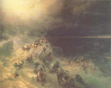 Great Flood Artwork by Ivan Constantinovich Aivazovsky