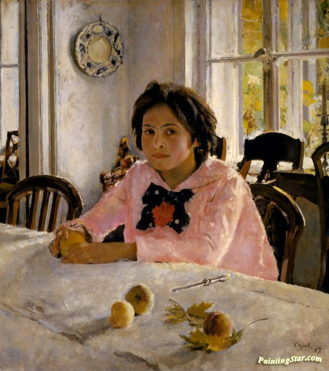 Girl With Peaches Artwork by Valentin Serov