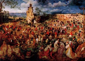The Procession to Calvary Artwork by Pieter Bruegel the Elder