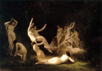La Nymphee Artwork by William Adolphe Bouguereau