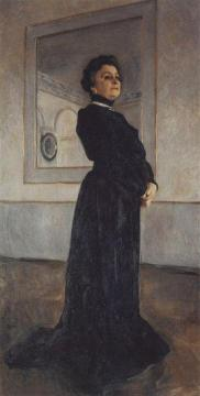 Portrait of Actress Maria Ermolova Artwork by Valentin Serov