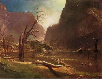 Hatch-Hatchy Valley, California Artwork by Albert Bierstadt