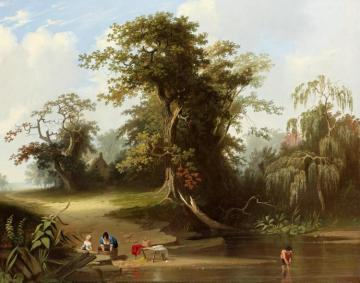 Landscape: Rural Scene Artwork by George Caleb Bingham