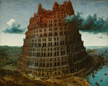 The Little Tower Of Babel Artwork by Pieter Bruegel the Elder