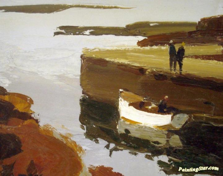 Lobster Boat, Dolan Artwork By Donald Mcintyre Oil ...
