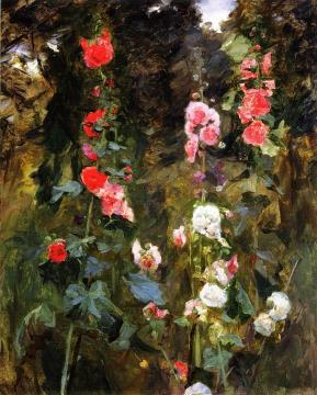 Hollyhocks, Isle Of Shoals Artwork by John Singer Sargent