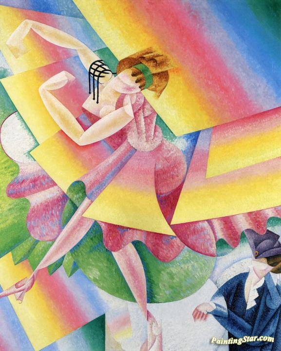 Dancer, Art Painting by Gino Severini