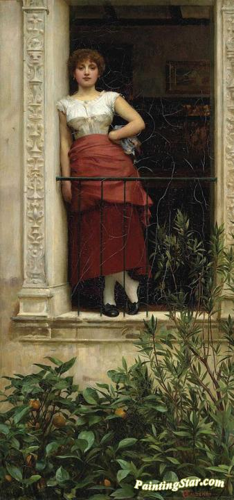 A Rose Of Provence Artwork by Philip Hermogenes Calderon