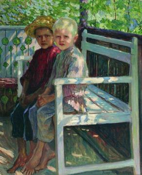 Children Artwork by Nikolai Petrovich Bogdanov-belsky