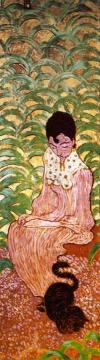 Woman In The Garden (panel 2) Artwork by Pierre Bonnard