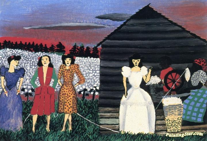Cabin In The Cotton Iv Artwork by Horace Pippin Oil Painting & Art ...