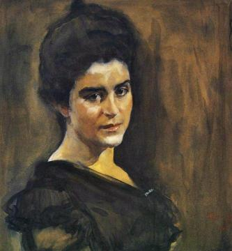 Portrait Of Sophia Dragomirova-lukomskaya Artwork by Valentin Serov