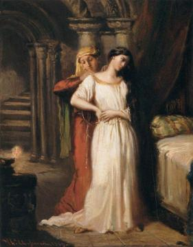 Desdemona Retiring to her Bed Artwork by Theodore Chasseriau