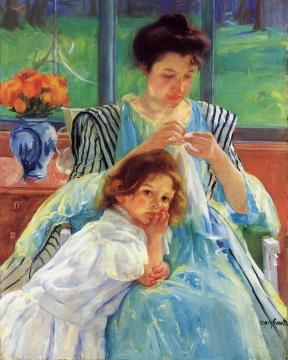 Young Mother Artwork by Mary Cassatt