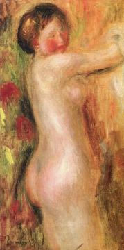 Nude with Raised Arms Artwork by Pierre Auguste Renoir