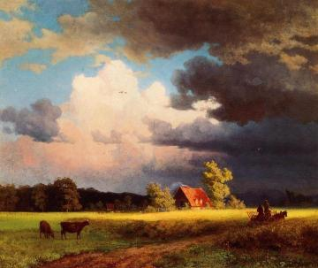Bavarian Landscape Artwork by Albert Bierstadt