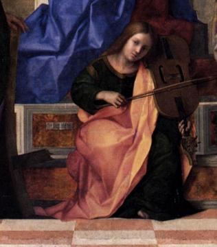 San Zaccaria Altarpiece (detail) Artwork by Giovanni Bellini