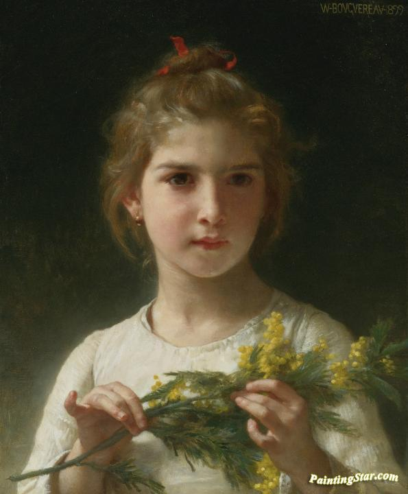 Mimosa Artwork by William Adolphe Bouguereau