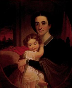 Mrs. Robert Levi Todd (Sallie Woodson Hall) and Daughter Matilda Téte Artwork by George Caleb Bingham