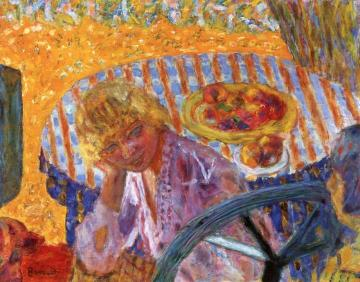 Young Women in the Garden (Renée Monchaty and Marthe Bonnard) Artwork by Pierre Bonnard
