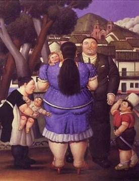 Homecoming Artwork by Fernando Botero