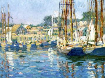 Gloucester Harbor - Late Afternoon Artwork by Jane Peterson