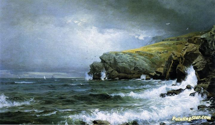 Seascape - Coast of Maine, Art Painting by William Trost Richards