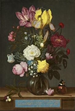 Bouquet Of Flowers In A Glass Vase Artwork by Ambrosius Bosschaert
