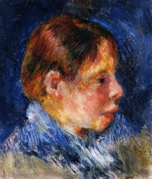 Portrait of a Child Artwork by Pierre Auguste Renoir