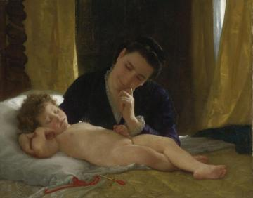 Jeune Mère Contemplant Son Enfant Artwork by William Adolphe Bouguereau
