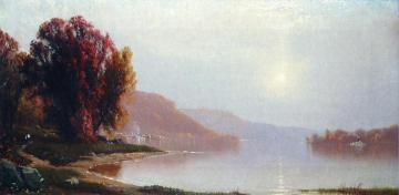 A Walk by the Lake Artwork by Alfred Thompson Bricher