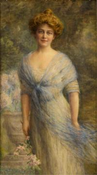Portrait of a Young Woman Artwork by Frank W. Benson