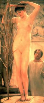 A Sculptor's Model Artwork by Sir Lawrence Alma-Tadema