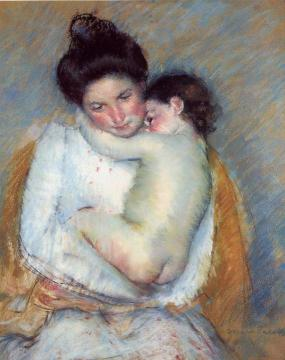Mother and Child Artwork by Mary Cassatt