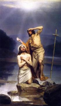 The Baptism Of Christ Artwork by Carl Heinrich Bloch