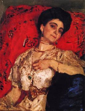 Portrait Of Maria Akimova Artwork by Valentin Serov