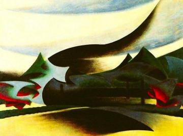 Warship, Widow And Wind Artwork by Giacomo Balla