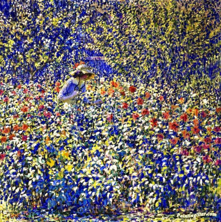 Flower Garden Artwork By Louis Ritman