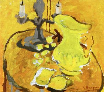 The Candelabra Artwork by Georges Braque