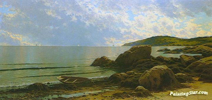 Low Tide, Hetherington Cove, Grand Manan Island, New Brunswick Artwork by Alfred Thompson Bricher