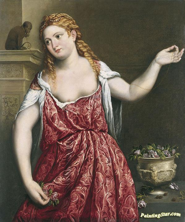 Portrait Of A Young Woman Artwork by Paris Bordone