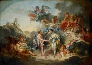 The Wedding of Cupid and Psyche Artwork by Francois Boucher