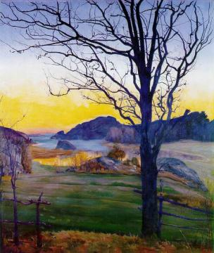 Autumn Landscape Artwork by Harald Oskar Sohlberg