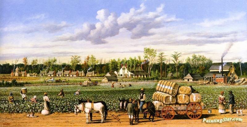 Plantation Economy Artwork By William Aiken Walker Oil ...