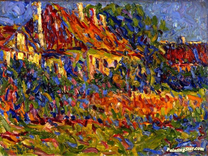 country house in osterholm artwork by erich heckel oil