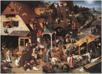 The World Upside Down Artwork by Pieter Bruegel the Elder