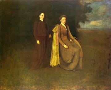 The Thomas Sisters Artwork by George de Forest Brush