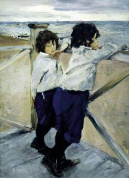 The Artist's Children (Sasha and Yura Serov) Artwork by Valentin Serov